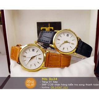 Đồng hồ đôi dây da cao cấp - giá 1 đôi - 3166 5