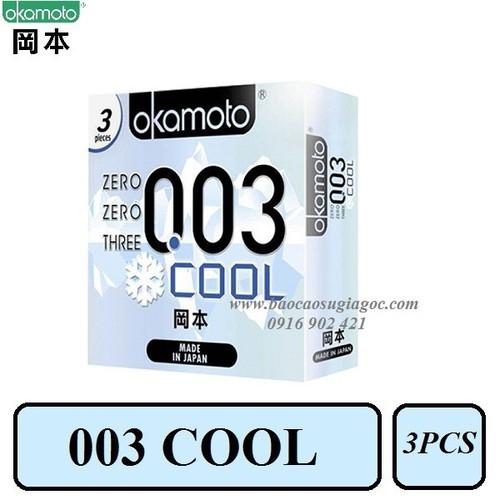 Bao cao su Okamoto 003 Cool siêu mỏng mát lạnh 3pcs - 4218106 , 10385501 , 15_10385501 , 185000 , Bao-cao-su-Okamoto-003-Cool-sieu-mong-mat-lanh-3pcs-15_10385501 , sendo.vn , Bao cao su Okamoto 003 Cool siêu mỏng mát lạnh 3pcs