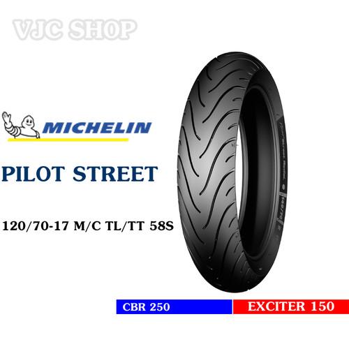 Lốp Michelin 120 70-17 MC [58S] Pilot Street TL TT