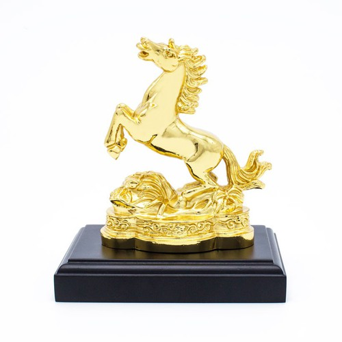 Tượng ngựa phong thủy ma vàng 24K, linh vật tuổi Ngọ