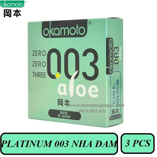 Bao cao su Okamoto Platinum 003 Aloe 3pcs - 4215910 , 10382512 , 15_10382512 , 178000 , Bao-cao-su-Okamoto-Platinum-003-Aloe-3pcs-15_10382512 , sendo.vn , Bao cao su Okamoto Platinum 003 Aloe 3pcs