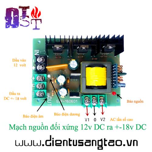 Mạch nguồn đối xứng 12v DC ra +-18v DC - 4221660 , 10389789 , 15_10389789 , 250000 , Mach-nguon-doi-xung-12v-DC-ra-18v-DC-15_10389789 , sendo.vn , Mạch nguồn đối xứng 12v DC ra +-18v DC