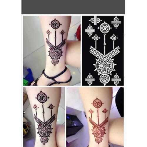 khuôn vẽ henna size 9-18cm