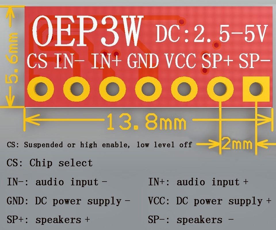 Mạch Khuếch Đại Âm Thanh Mono 3W OEP3W 1