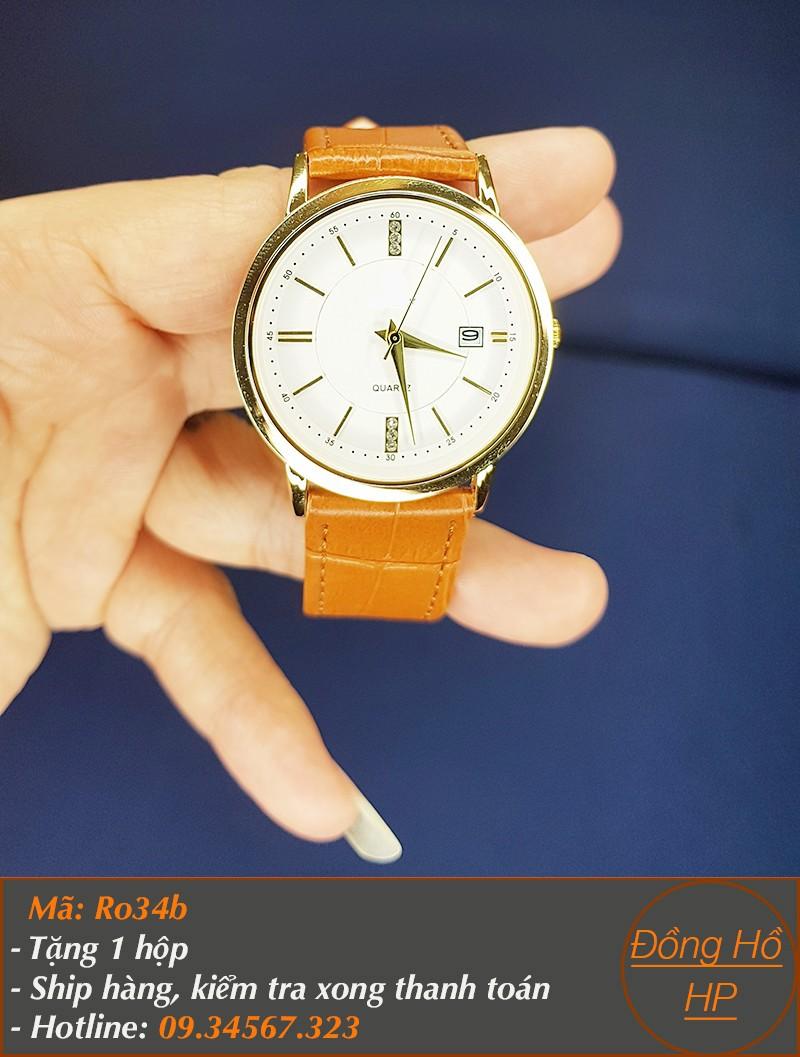 Đồng hồ đôi dây da cao cấp - giá 1 đôi - 3166 6