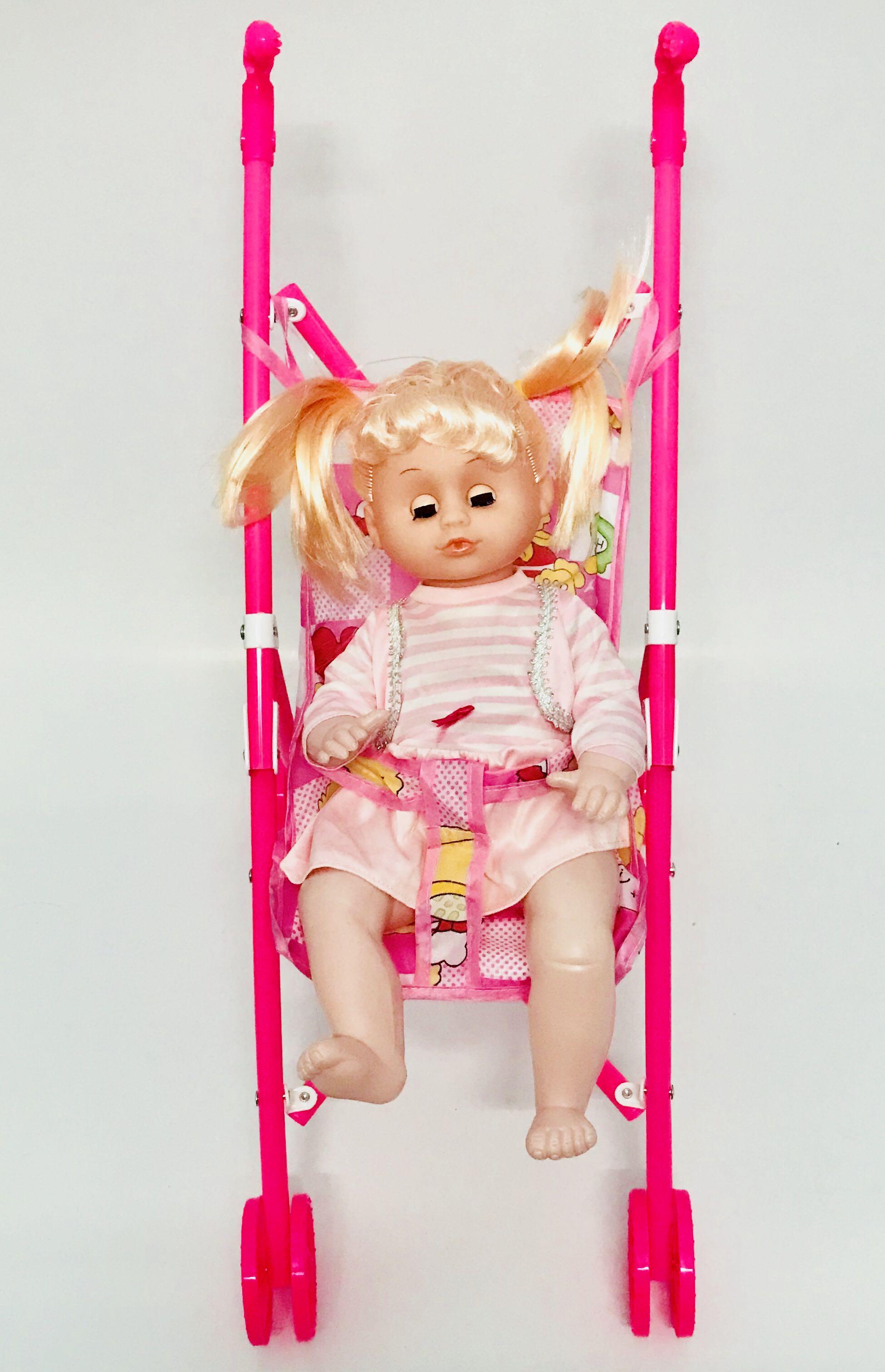 Bộ đồ chơi xe đẩy búp bê dành cho bé gái