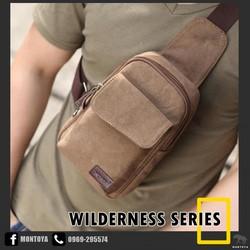 Túi đeo chéo nam trước ngực nhỏ gọn kiểu hàn quốc vải bền