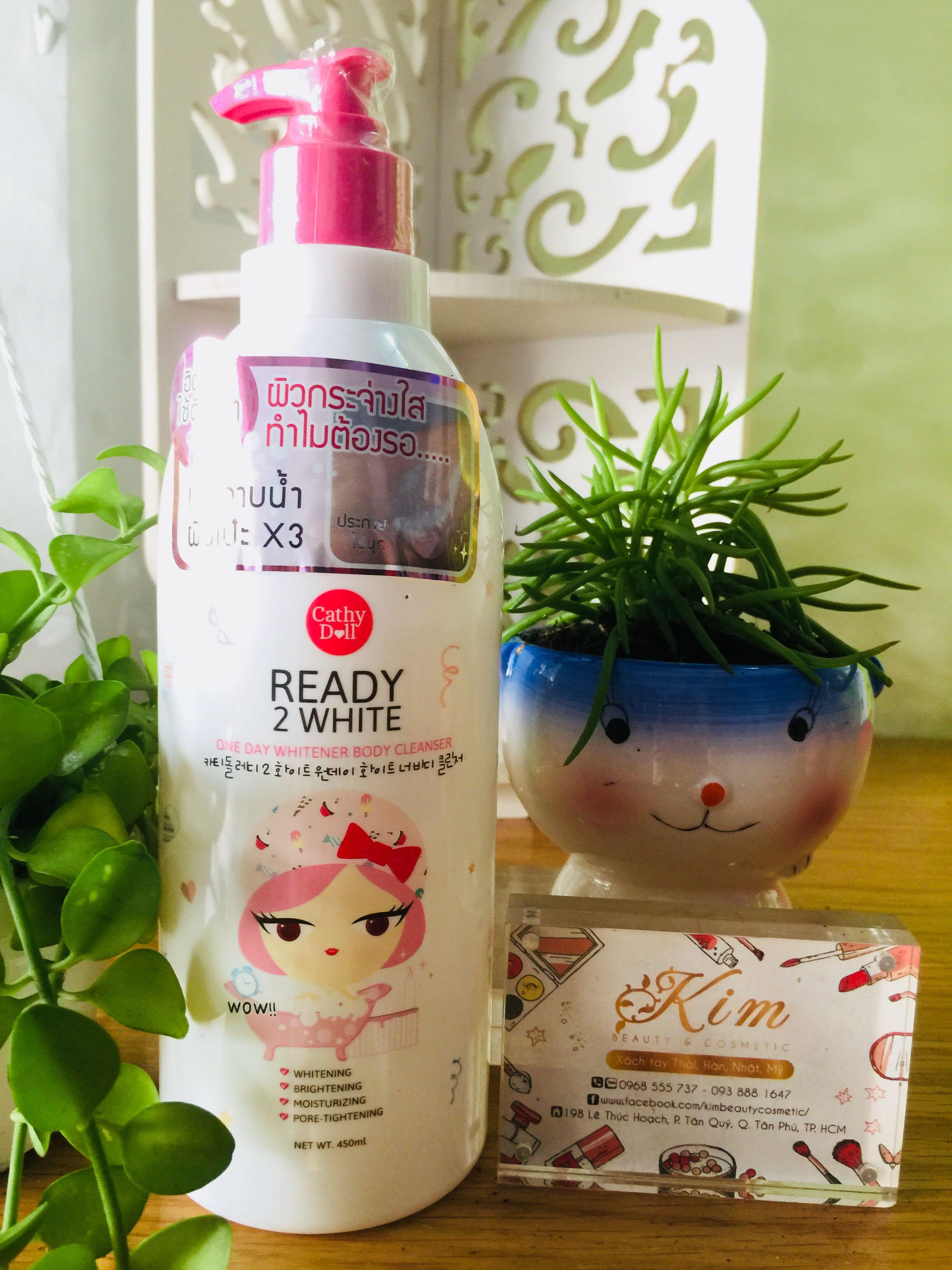 Lotion Duong Trang Da Cathy Doll Ready 2 White P Chnh Hng Cht Whitener Body 150ml Lng Gi R Hp Dn