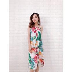 Đầm hoa 2 dây kèm thắt lưng HÌNH MẪU SHOP CHỤP