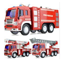 Xe ô tô cứu hỏa chạy đà đồ chơi trẻ em tỉ lệ 1:16 có nhạc và đèn