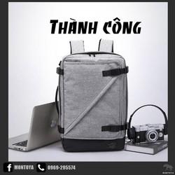 Balo Nam-laptop-nhiều ngăn-cầm tay-du lịch-dây USB-chống nước-MONTOYA