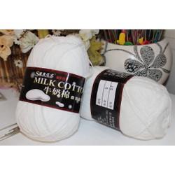 M3 - Len Milk cotton loại 1 cuộn 125gr