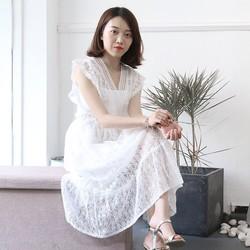 Đầm Ren Thêu Hàng QC Cao Cấp Cam Kết Y Hình