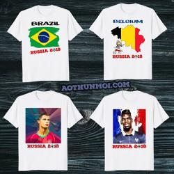 Áo Thun WORLD CUP Đội tuyển BRAZIL BỈ ARGENTINA ANH RONALDO MESSI