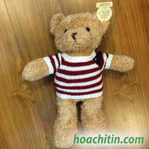 Thú nhồi bông Teddy muối tiêu cờ Mỹ 50cm - Gấu bông