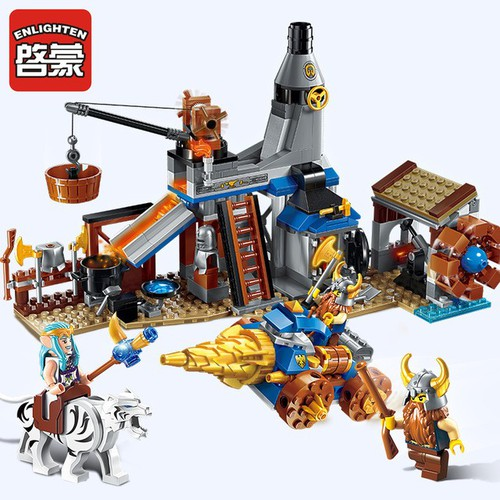 đồ chơi lắp ráp thông minh non-lego enlighten 2314 lò rèn chú thợ lùn