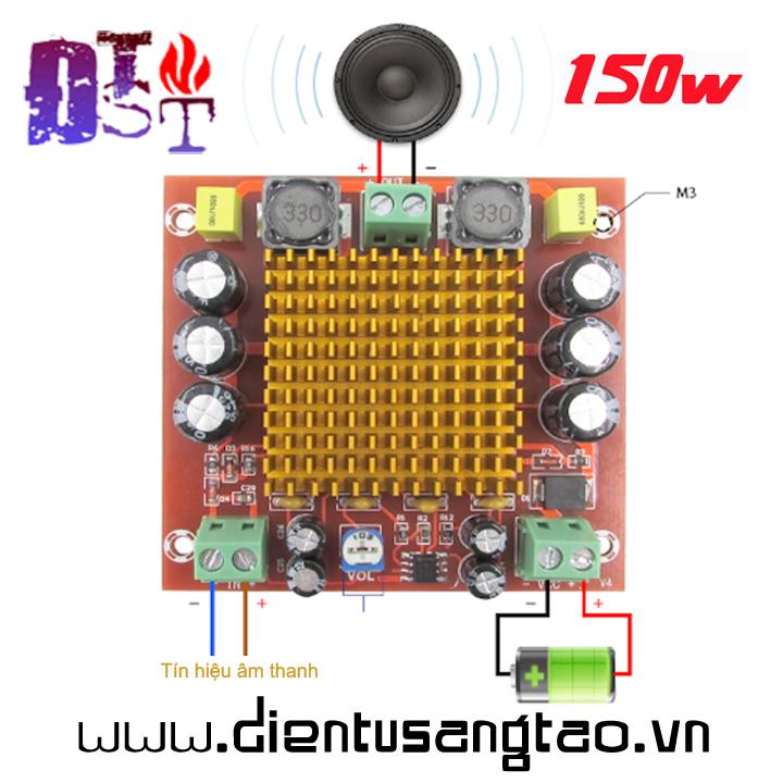 Mạch khuếch đại âm thanh ClassD 150W 1 kênh