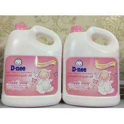 Nước xả vải Dnee 3L - Màu hồng