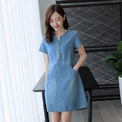 Đầm Denim Cao cấp - Phong cách Hàn Quốc