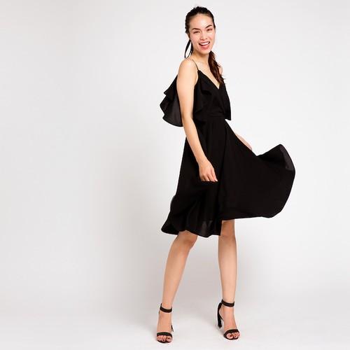 Đầm xoè đi tiệc tuyệt đẹp hity đầm dạ hội dre041 đen huyền bí