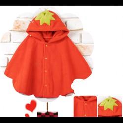 Áo khoác bé gái hình trái dâu ss-3tuổi