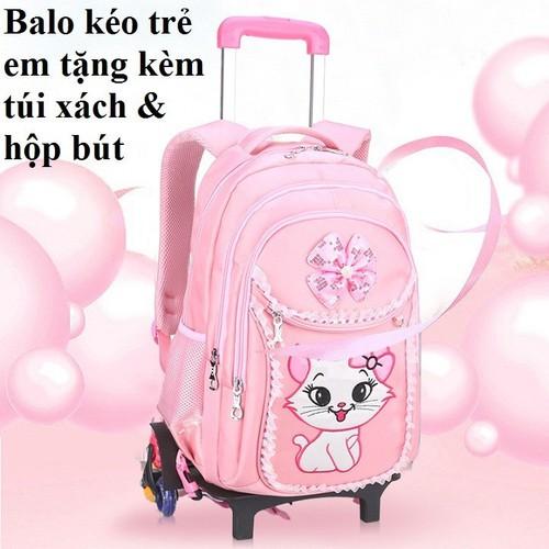 Balo cần kéo học sinh tặng kèm bộ túi xách và hộp bút - 4238865 , 10412142 , 15_10412142 , 971000 , Balo-can-keo-hoc-sinh-tang-kem-bo-tui-xach-va-hop-but-15_10412142 , sendo.vn , Balo cần kéo học sinh tặng kèm bộ túi xách và hộp bút