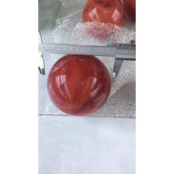 Quả cầu thạch anh núi lửa đỏ 2kg-12cm