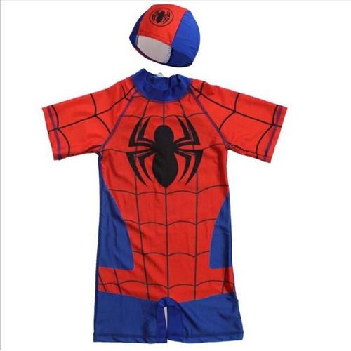 Đồ bơi người nhện kèm nón cho bé
