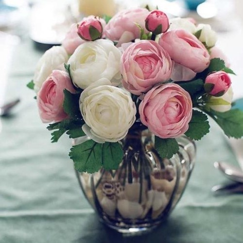 Hoa cưới cầm tay, Hoa lụa mao lương