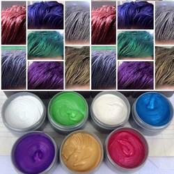 Sáp tao màu tóc đầy đủ 8 màu lựa chọn: màu xám khói....