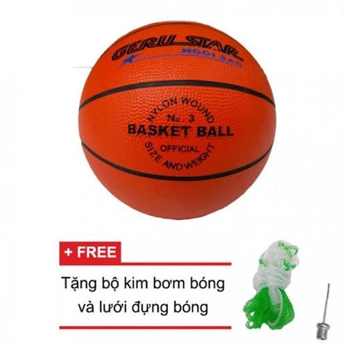 Quả bóng rổcao su Prostar số 3 + Tặng kim bơm và lưới đựng bóng