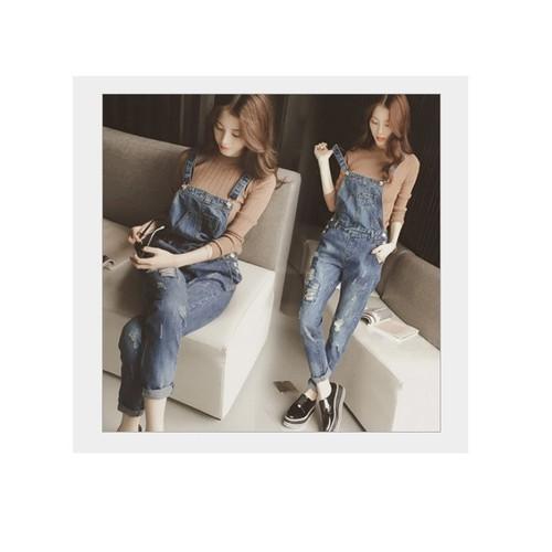 Quần yếm jean dài