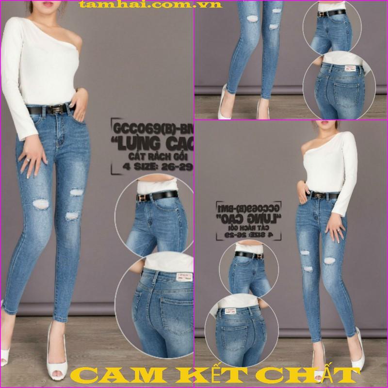 Jeans thun cotton co giãn tốt 1