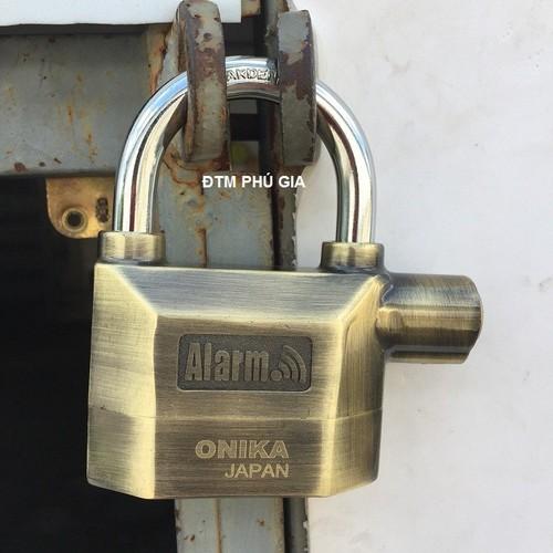 Ổ khóa báo động 2 lõi bi ONIKA JAPAN vàng đồng