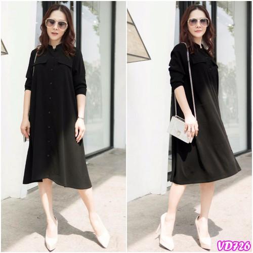 Đầm Suông Sơ Mi Tay Dài YKVD726