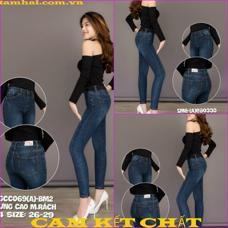 Quần jeans nữ cao cấp TAHACO 1