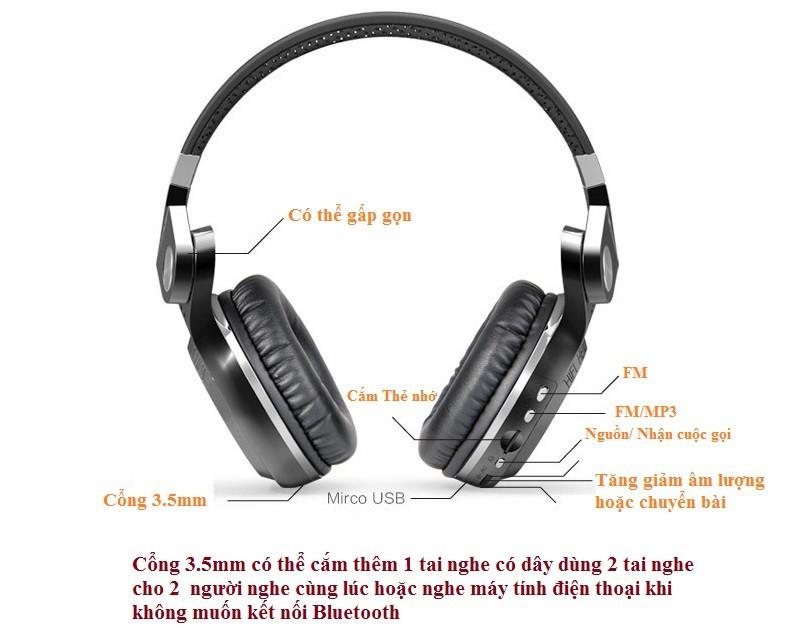 Tai nghe Bluetooth chụp tai PKCB 2+ pin khủng Nhập khẩu cao cấp PF1 13