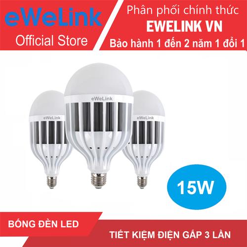 3 Bóng Đèn Led Bulb eWeLink 15W Ánh Sáng Trắng 6500K Có tản nhiệt