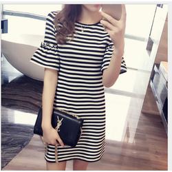 Đầm nữ sọc nhập Quảng Châu-Shop LucyLucy Ms442
