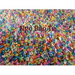 100gr cốm tim nhiều màu trang trí slime
