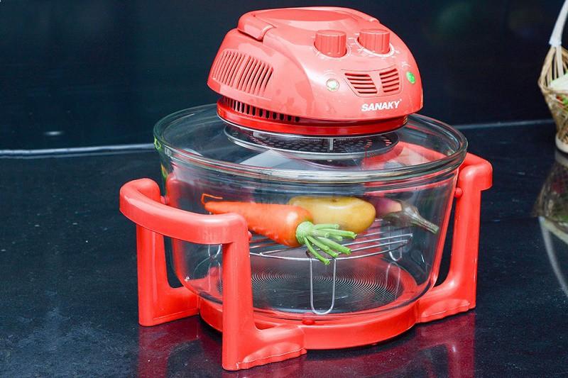 Lò nướng thủy tinh Sanaky VH 158D Màu Đỏ