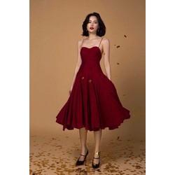 Đầm xoè 2 dây tôn dáng xinh