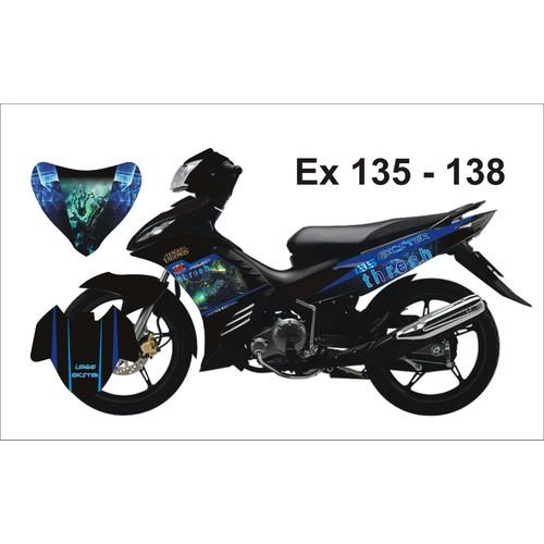 Tem Trùm Decal Exciter 135 Monster Đen Xanh - 5958926 , 10046546 , 15_10046546 , 299000 , Tem-Trum-Decal-Exciter-135-Monster-Den-Xanh-15_10046546 , sendo.vn , Tem Trùm Decal Exciter 135 Monster Đen Xanh