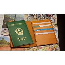 Ví đựng Passport da bò handmade - Ví đựng hộ chiếu Mino Crafts VO46N
