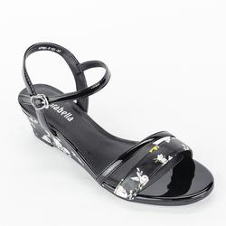 Giày Sandals Xuồng Quai Ngang 121 màu đen