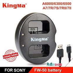 Sạc pin đôi nhanh KingMa Sony NP-FW50 A6000 A6300 A6500