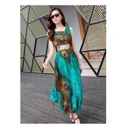 Đầm Maxi Chim Công