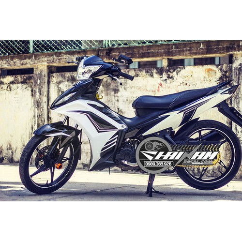 Tem Xe Decal EXCITER 135 Đen Trắng