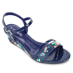 Giày Sandals Xuồng Quai Ngang 121 màu xanh