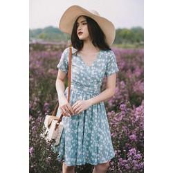 Đầm hoa hàng xuất nơ lưng cách điệu